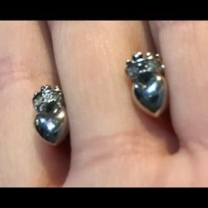 Juicy Couture vintage earrings tiny crowned hearts